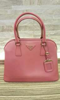 AUTHENTIC PRADA PINK LEATHE TOTE BAG