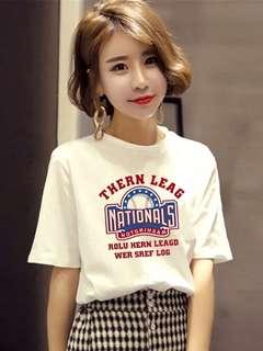 🚚 t恤女短袖2018新款学生寬鬆韩版ulzzang百搭体恤白色衣服,s-2xl