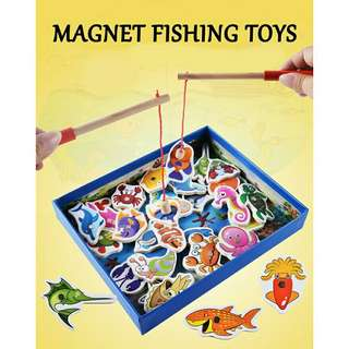 *FREE DELIVERY to WM only / Ready stock* Kids magnet fishing toy set each as shown in design/color. Free delivery is applied for this item.