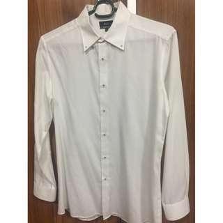 G2000 Man formal dress white long sleeves Slim Fit L