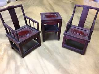 Mini wood furniture
