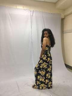 H&M Sunflower Maxi dress