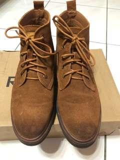 韓版漸層麂皮短靴(百搭棕)