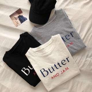 "po; ulzzang tumblr ""Butter and Jam"" oversized tee"