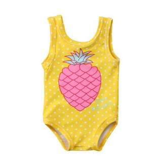 (PO) Yellow Pink Pineapple Swimsuit