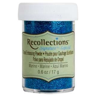 Recollections Signature - Tinsel Embossing Powder (Marine Blue)