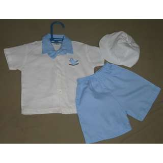 Baby Boy Baptismal Clothes Set