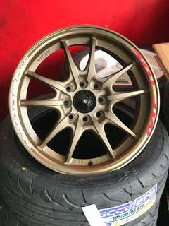 Mugen mf10 15 inch sports rim honda jazz city freed