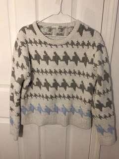 Geometric design sweater shirt
