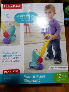 Fisher Price Pop N Push Elephant toy