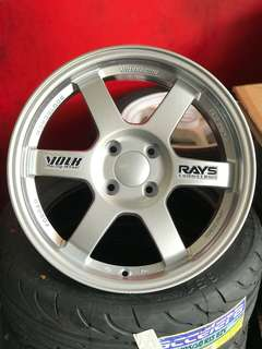 Te37 16 inch sports rim vios swift ford fiesta