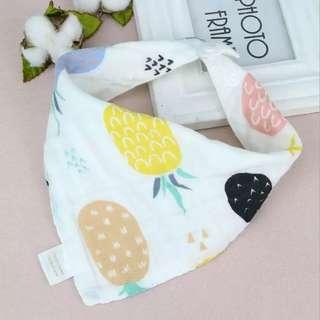韓式純棉三角巾✨8層棉紗加厚版