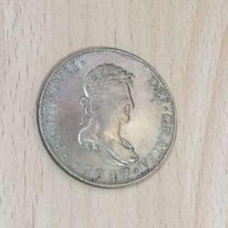 1817 Calorus IIII DEL GRATIA Silver Coin