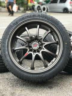 Ce28 18 inch sports rim HRV tayar baru brand accelera * jimat jimat offer *