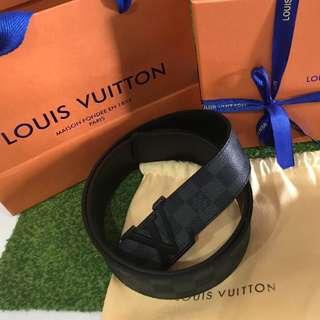 Louis vuitton damier belt mens