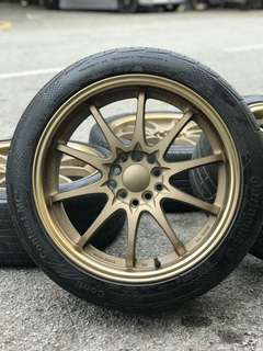 Rim baru + tayar 2nd . Ce28 17 inch sports rim civic fd * below market price *