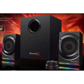 Sound BlasterX Kratos S5 2.1 Gaming Speaker System with Customizable RGB Lighting