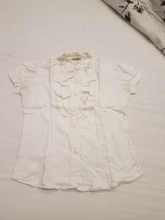 ruffle white shirt (sale!!!)