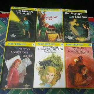 FREE SHIPPING! Nancy Drew Hardbound Books
