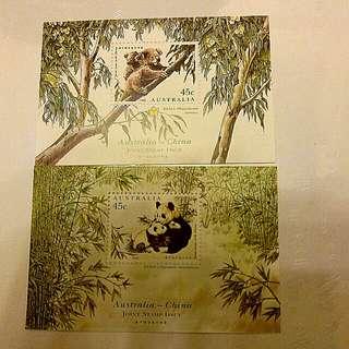 澳洲同中國聯合發售紀念郵票(每張)