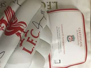 Liverpool Soccer ball with autography