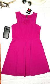 Branded dress in hot pink
