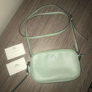 Preloved Coach crossbody bag mint