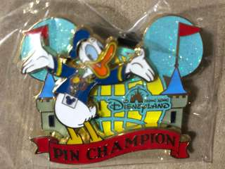 香港 迪士尼 徽章 DISNEY PIN DONALD PIN CHAMPION PIN TRADING FUN DAY 2018