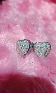 Swarovsky heart earings