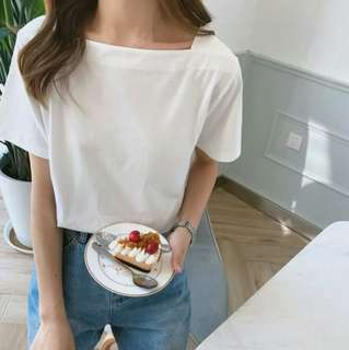 BN casual white top