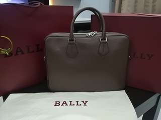 Bally Laptop Designer Leather Bag