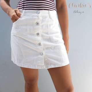 Button down white skirt