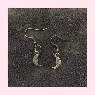 Antique Moon Earrings