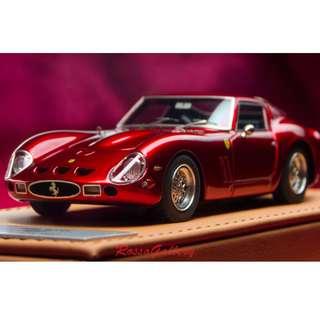 全新BBR 1:43 Ferrari 250 GTO 1962 Rosso Fuoco Met. CDL181
