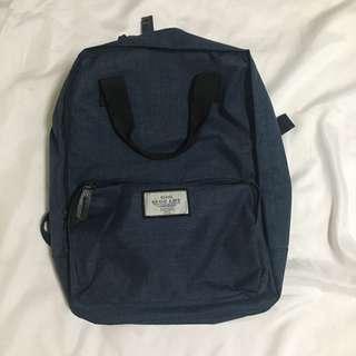 日系風格素色後背包 書包 男女款