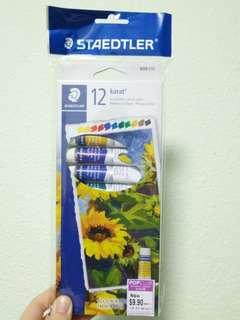 Staedtler acrylic paint set of 12