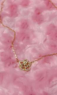 10k gold plated rose necklace