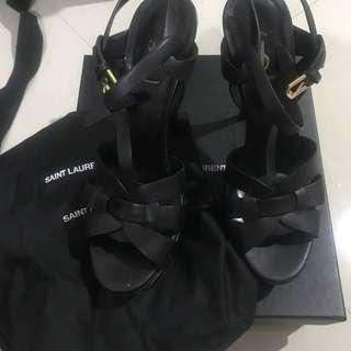 Saint laurent tribute heels black 14cm