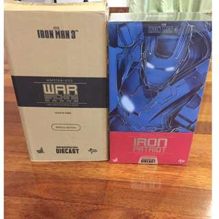 Hot toys iron man patriot and war machine mk2 special edition