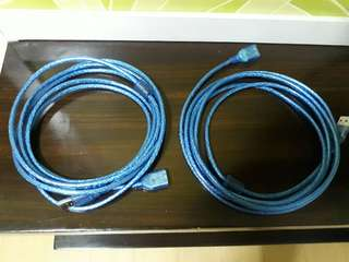 USB 20 Extension Cable 3M each Set of 2 (FREE SHIPPING)