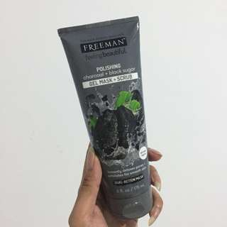 Freeman Charcoal & Sugar Black Gel mask Scrub