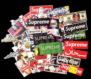 All New SUPREME waterproof Stickers
