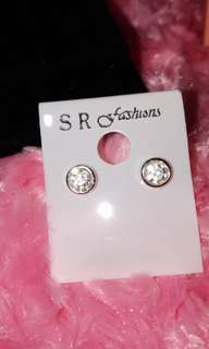 925 silver round earrings