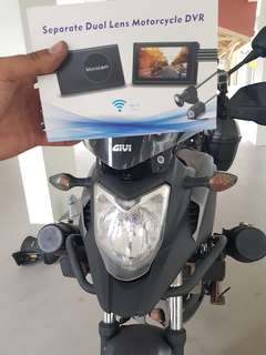 Front & back motorcycle camera (full hd with wifi)