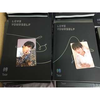ready stock! BTS Tear O & U album with V pc