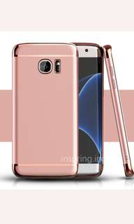 New rose gold pink girly samsung s8 plus + case cover phone mobile