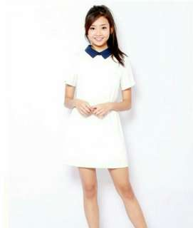 Feyla collared white dress shopsassydream