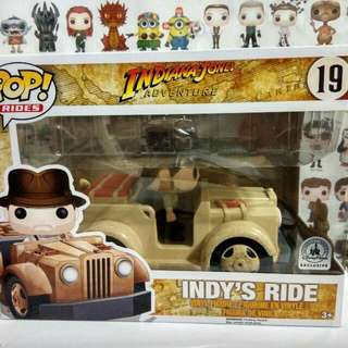 * Damaged Box Clearance Sale * Funko Pop Indy Ride Disney Exclusive Vinyl Figure Collectible Toy Gift Movie Indiana Jones