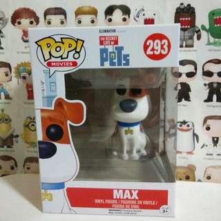 Funko Pop Max Vinyl Figure Collectible Toy Gift Movie Secret Life Of Pets Disney Pixar Cartoon