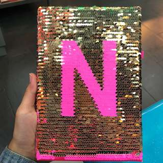 SMIGGLE A5 ntbook sequin